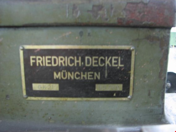Used Friedrich Deckel GK21 pantograph machine for Sale