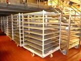 Stainless steel / aluminum trolley