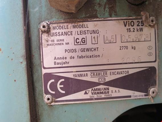 Used Ammann Yanmar ViO 25 Minibagger for Sale (Auction Premium)