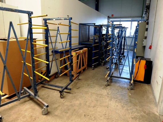 Used 6 mobile Teleskop-Ablagegestelle for Sale (Auction Premium) | NetBid Industrial Auctions