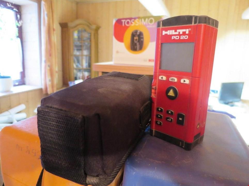 Hilti pd 20 laser entfernungsmesser koupit použité auction premium