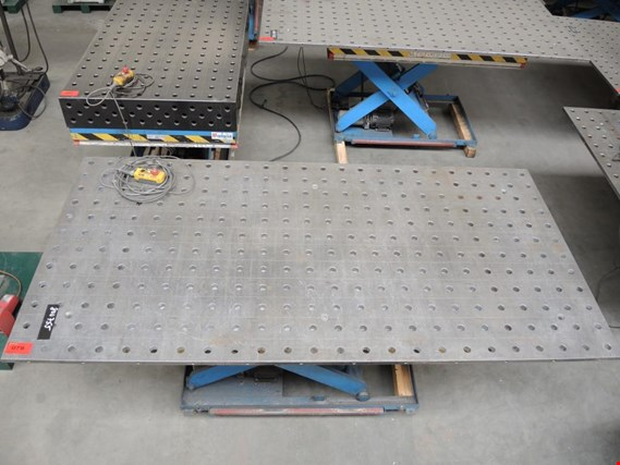 Used Welding Table With Hole Grid Pattern 78 For Sale