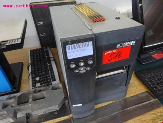 Used Zebra ZM 400 label printer for Sale (Auction Premium)