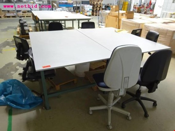 Used 7 packing tables for Sale (Auction Premium)