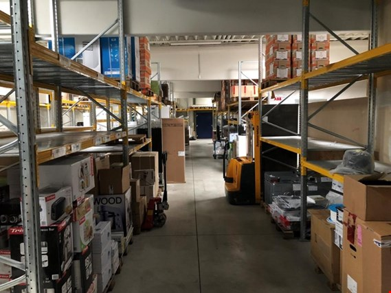 warehouse stock and office equipment of an electronics store