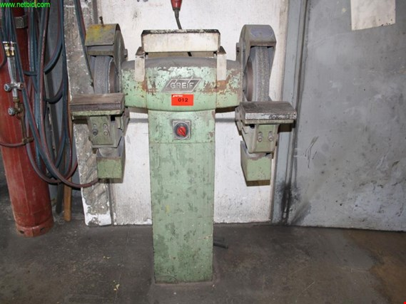 Used Greif double-sided stand grinder for Sale (Auction Premium)