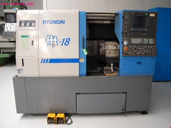 Used HYUNDAI HIT 18 CNC SLANT BED LATHE for Sale (Auction Premium)