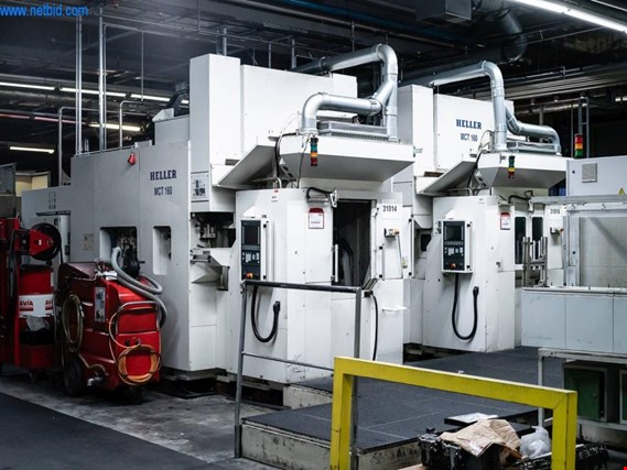 Used Heller MCT 160 horizontal double spindle machining center for Sale (Online Auction) | NetBid Industrial Auctions