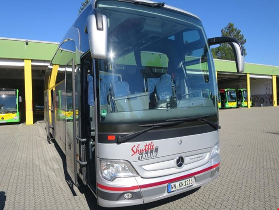 Well-maintained city buses and coaches of the brands MERCEDES-BENZ, MAN and SETRA