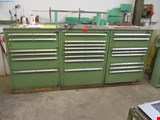 3 Metal drawer cabinets