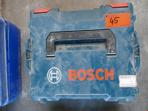 Used Bosch GWS18-125 V-LI Battery angle grinder for Sale (Auction Premium) | NetBid Industrial Auctions