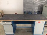Work table double sided 2000 mm with accessories