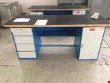 Work table double sided 2000 mm with accessories.