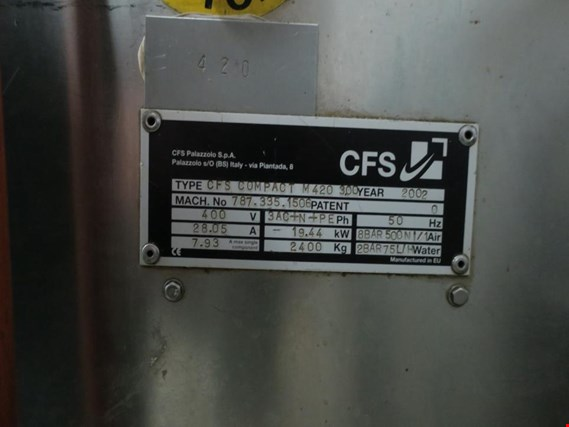 Used CFS COMPACT M420 3 00 Packaging machine for Sale