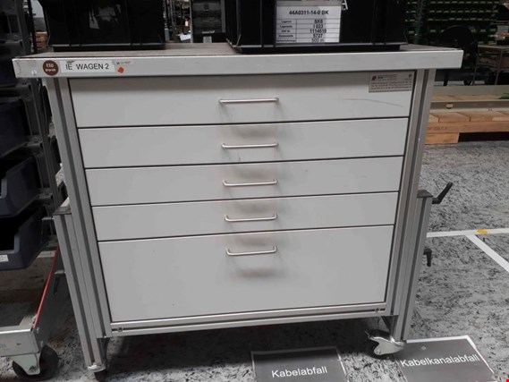 Used Bfm 8 Pcs Roller Tables With Drawers For Sale Auction