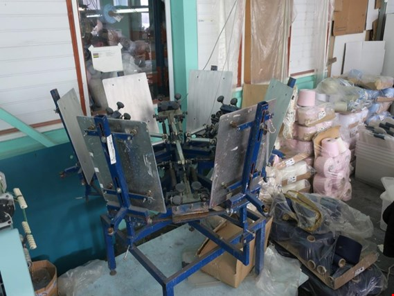 Used Manual screen printing carousel for Sale (Auction Premium) | NetBid Industrial Auctions